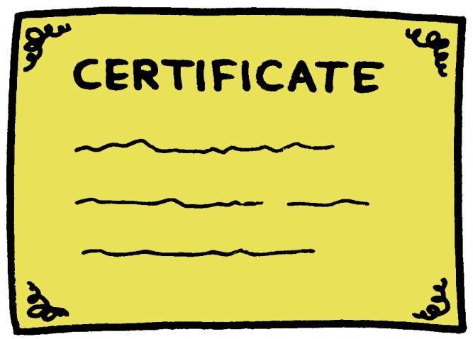 certificate color